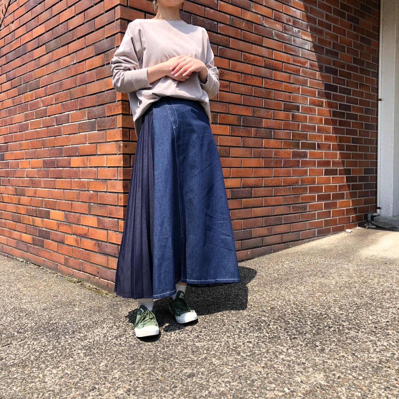 【 ROSIEE 】- 182731 - デニムプリーツスカート