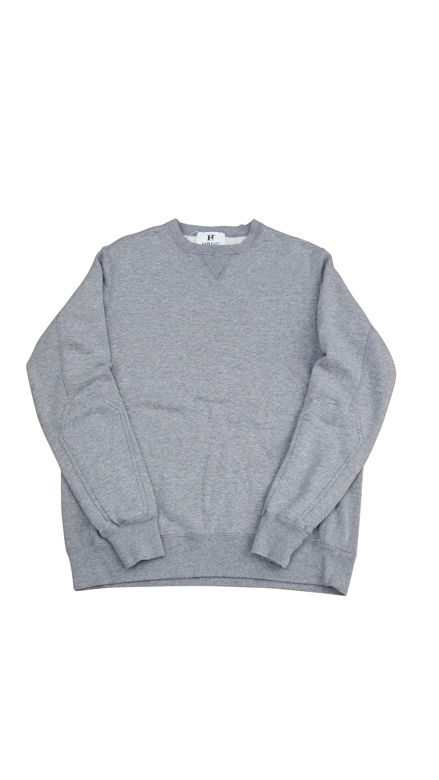 ELBOW PATCH SWEAT SHIRTS ( GRAY )