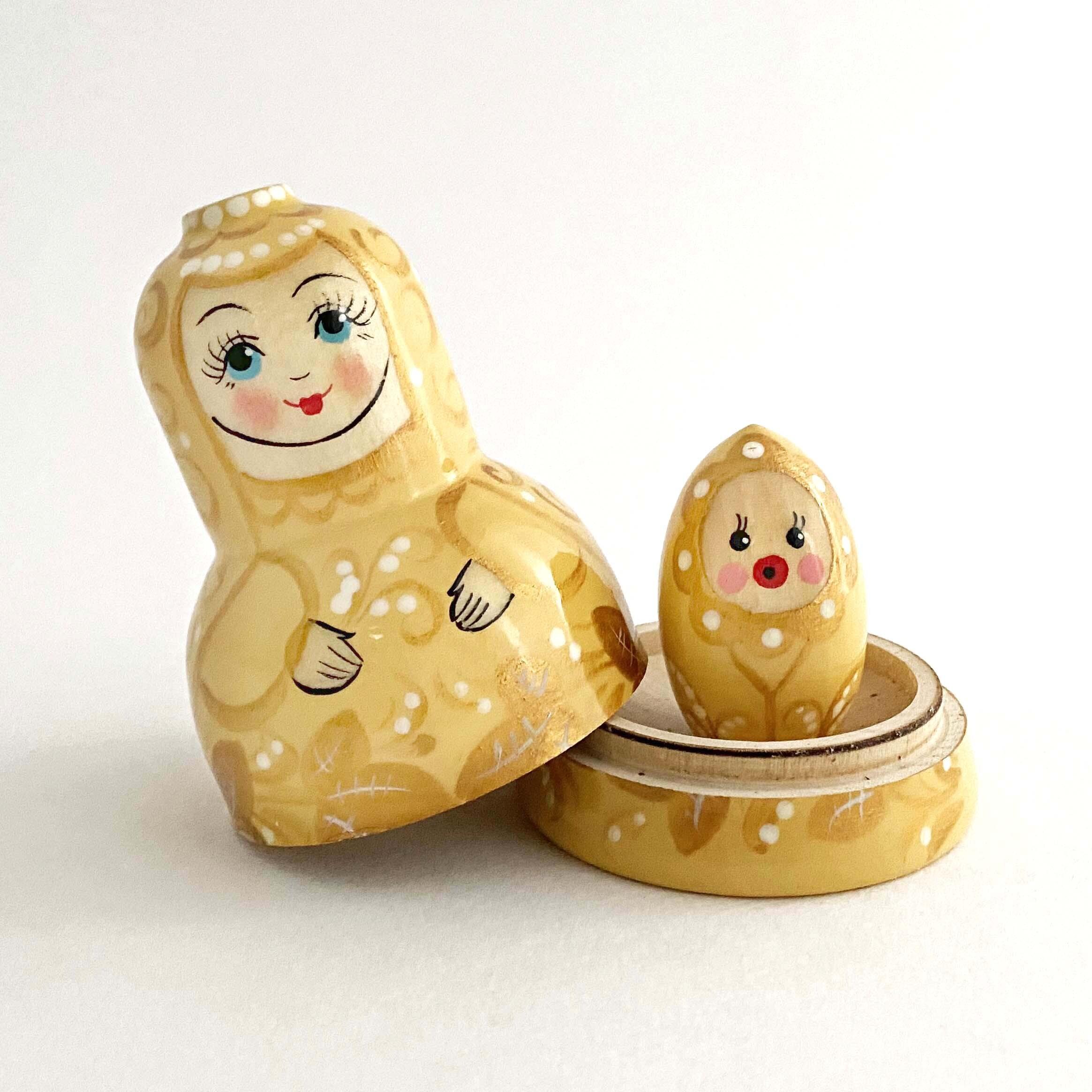金色のオトメリョーシカ(2個組)