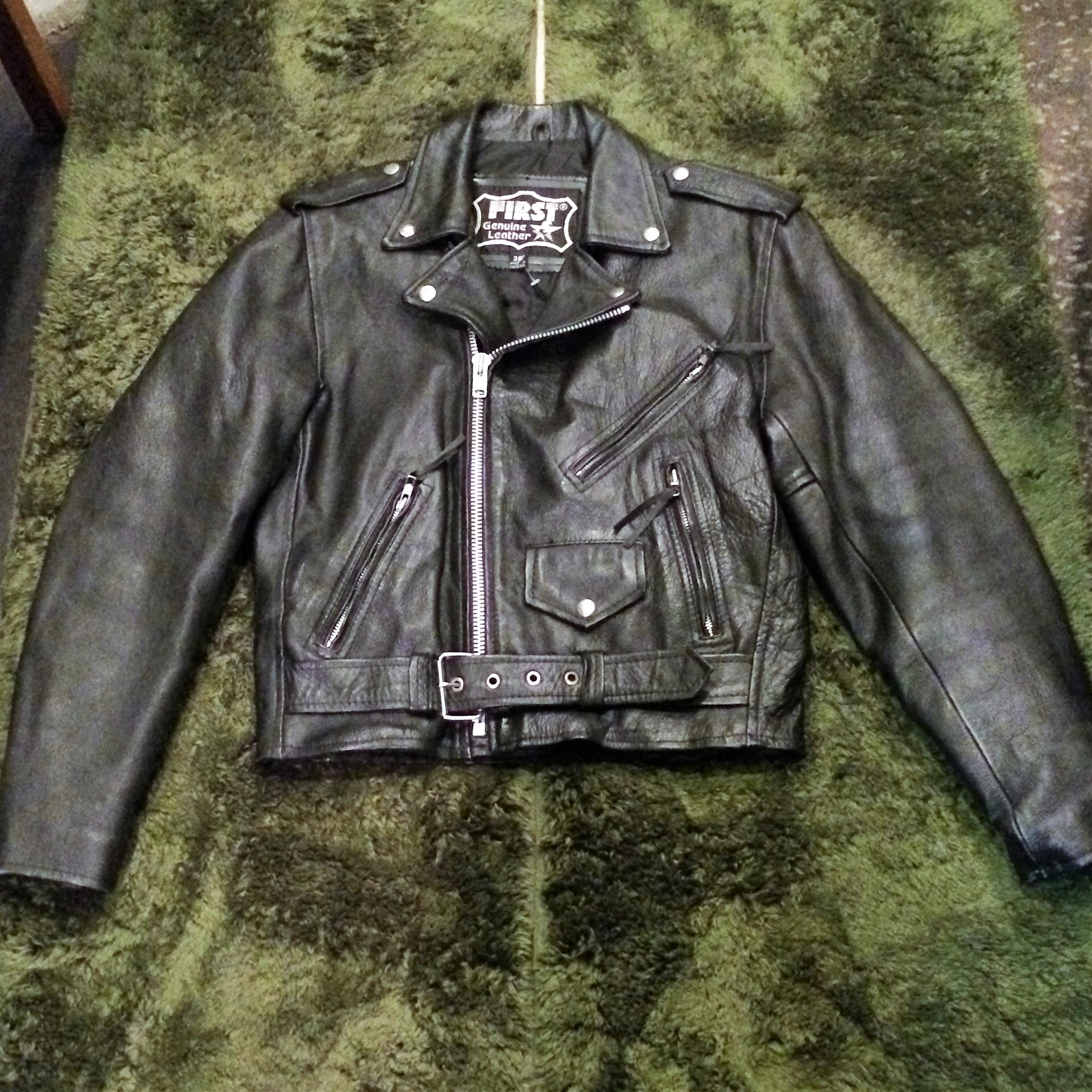 【webショップ限定SALE! ¥9800→¥7840】First Leatherダブルライダースジャケット
