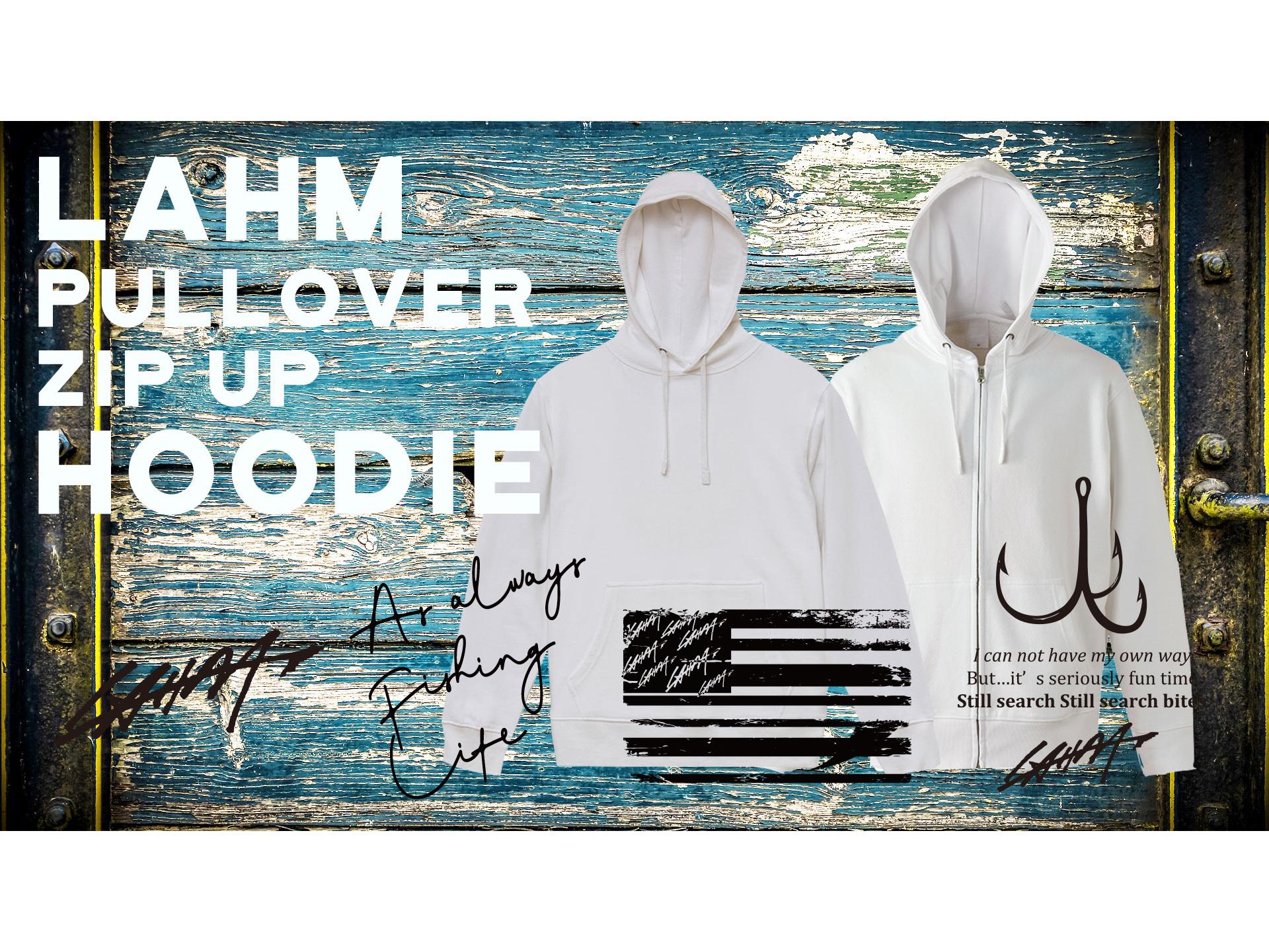 【2019新作フーディー:少量在庫ございます!】WHITE/BLACK Pullover/ZIP UP hoody  LAHM