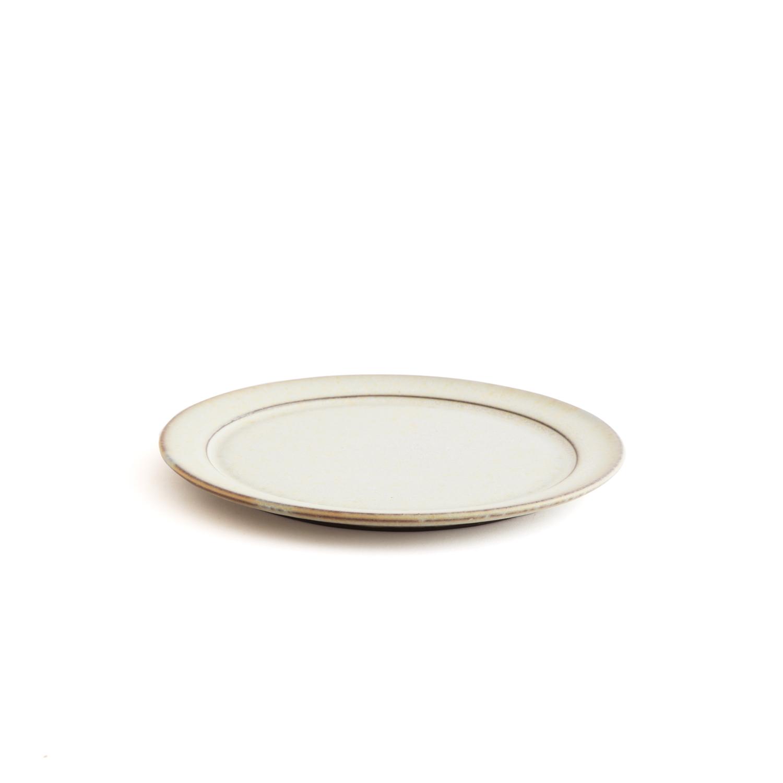 二川修/6寸リム皿 白