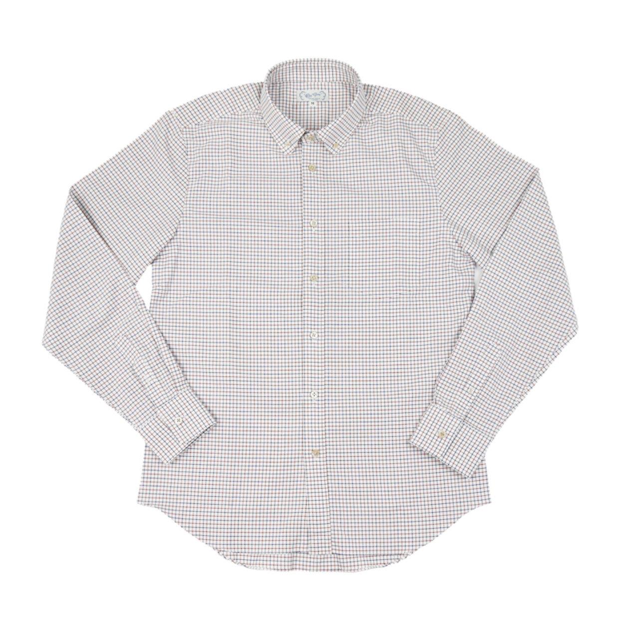 【Or Glory】 タッターソールチェック 丸襟 BDシャツ