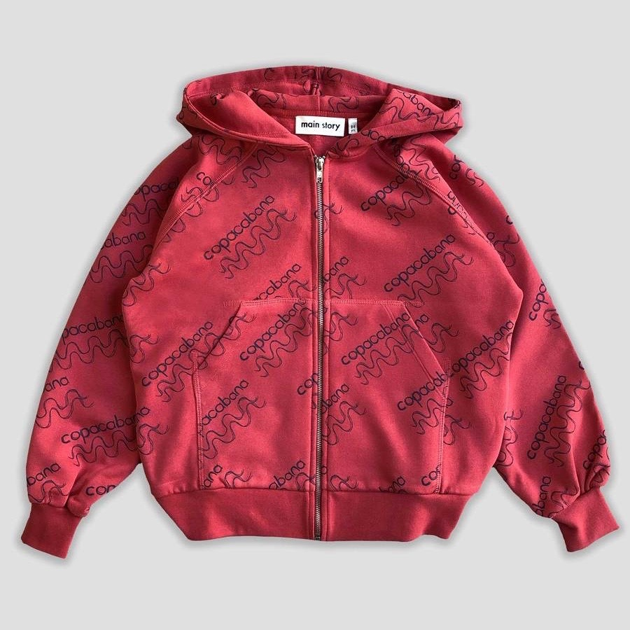 《main story 2019AW》ZIPPED HOODIE / red Copacabana