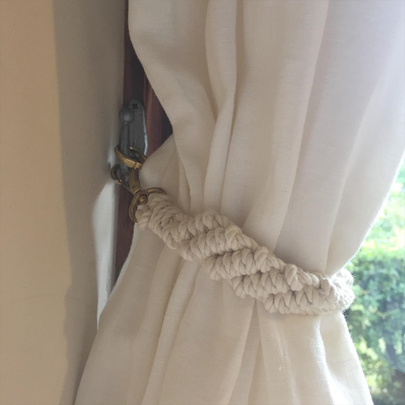 Macrame Curtain Tieback A