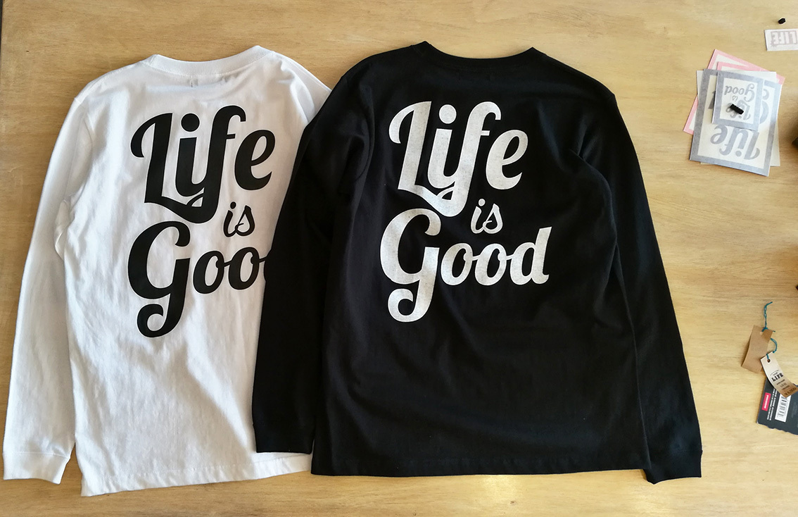 LIFE is good L/S TEE