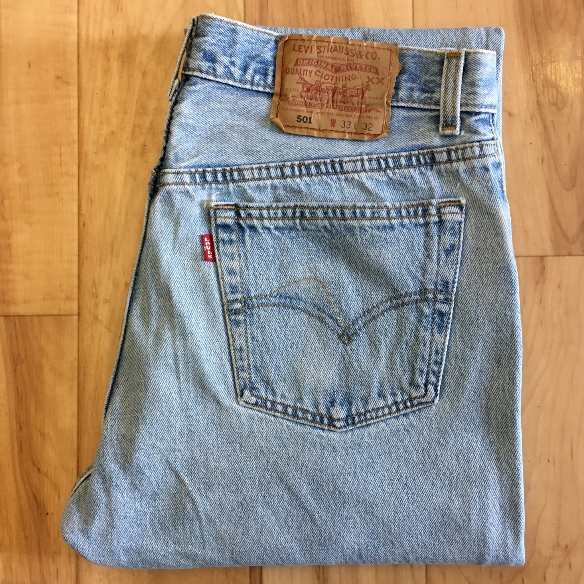 "90's Levi's 501 W33 inch  ""Made in USA"""
