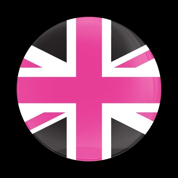 ゴーバッジ(ドーム)(CD0934 - FLAG UK PINK JACK) - 画像1