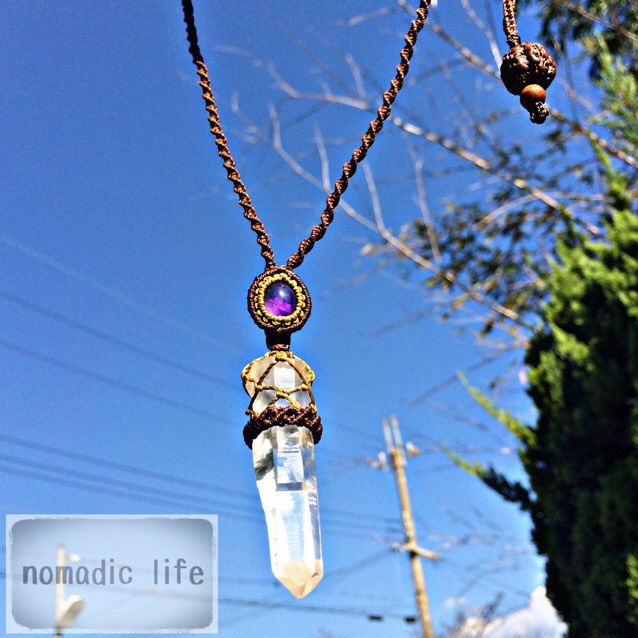 No.41//Crystal-Amethyst necklace from India【made-to-order】