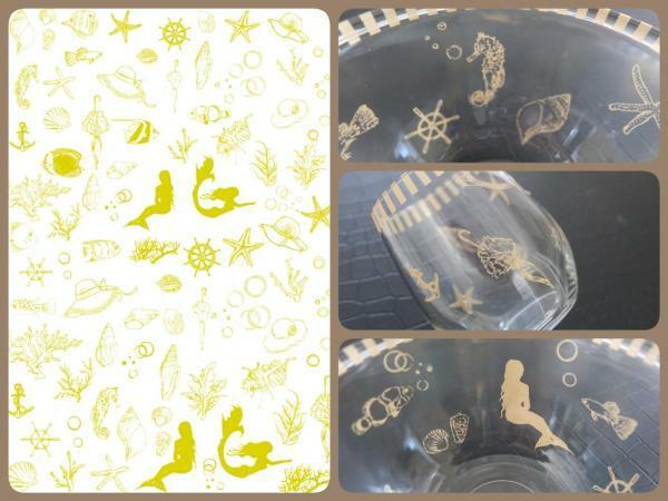 【ガラス用】SEA転写紙 ゴールド