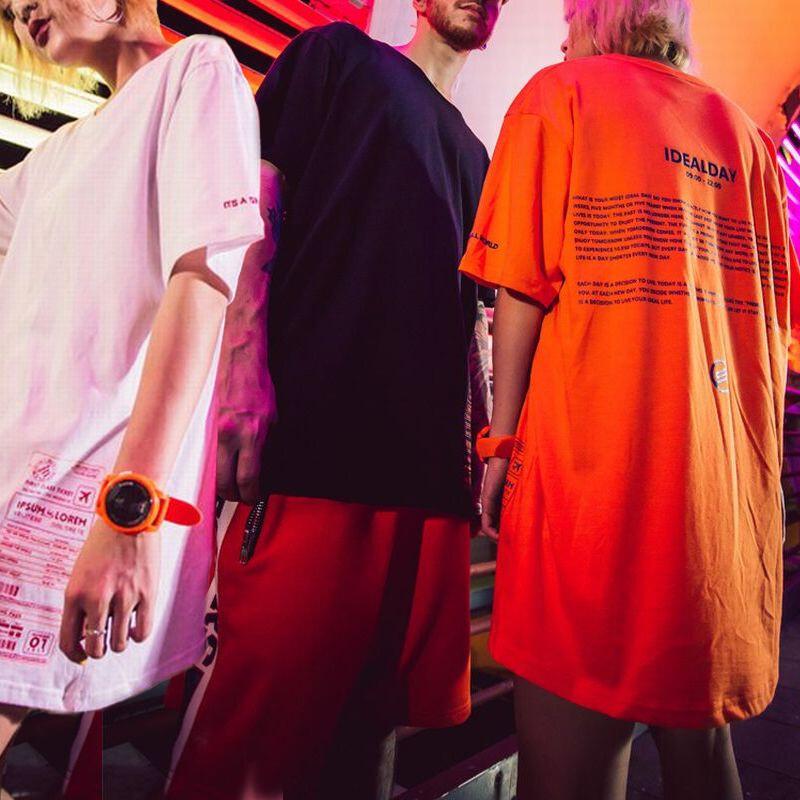 ユニセックス Tシャツ 半袖 メンズ レディース ラウンドネック 英字 プリント オーバーサイズ 大きいサイズ ルーズ ストリート