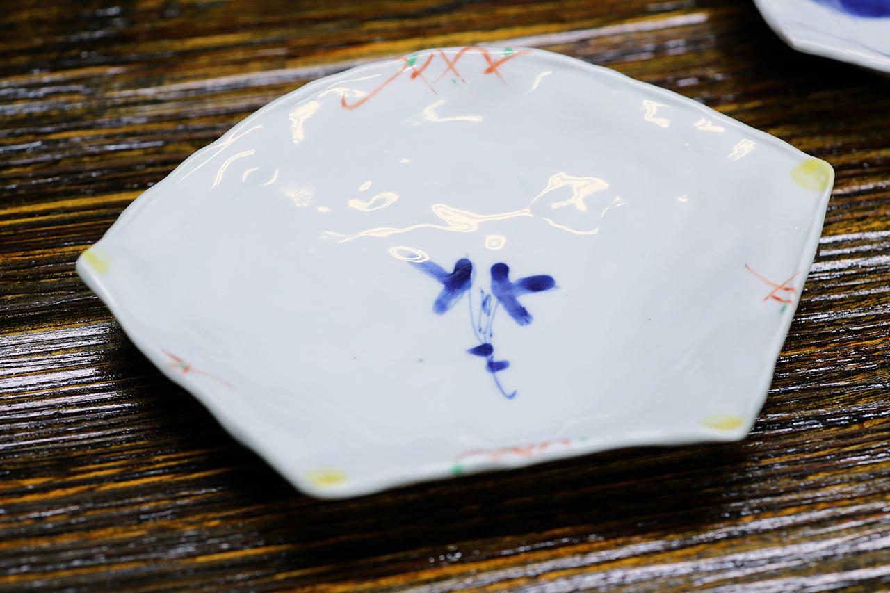 松尾貞一郎 扇型皿 181219K-6 貞土窯(有田焼)