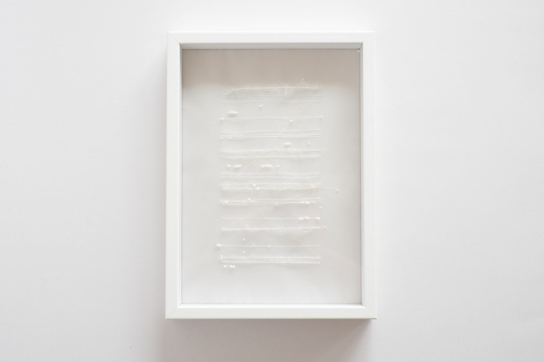 "Score for snow (Framed) ""雪のうたのための楽譜(額入り)"""