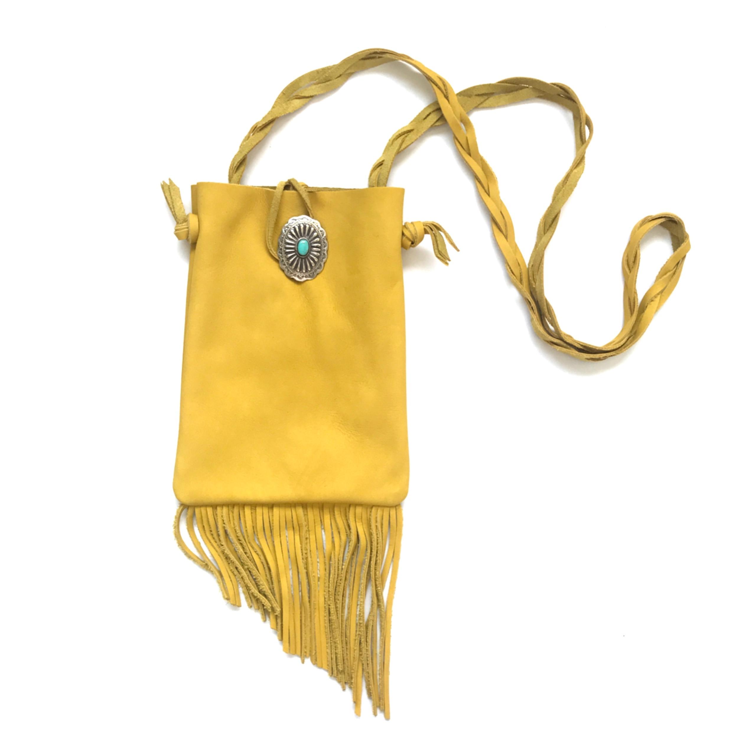 Fringe Shoulder Bag  < MUSTARD>