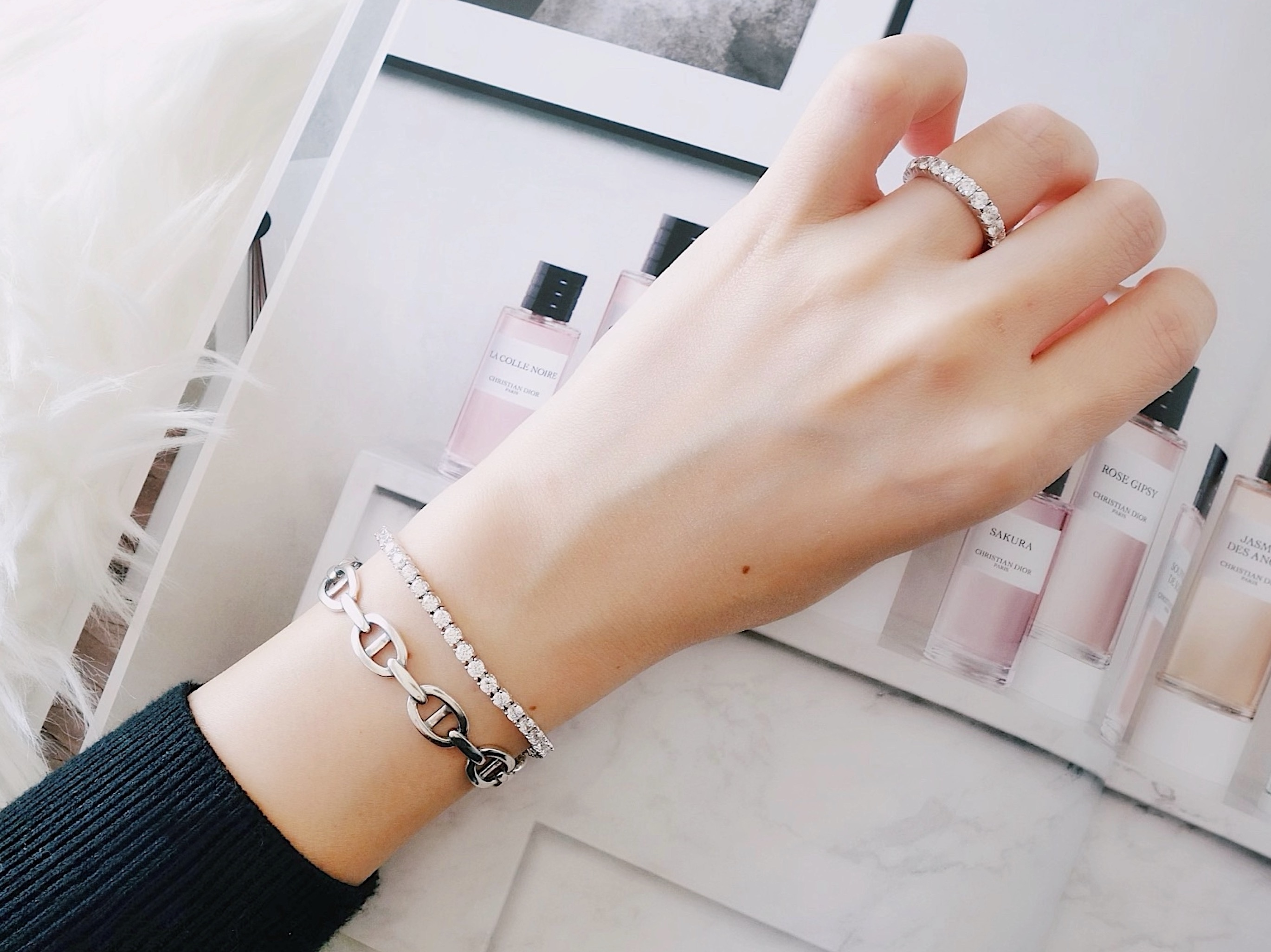 artificial diamond bracelet