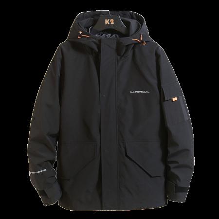 【MEN'S】マウンテンパーカー ジャケット コート フード付き【2colors】