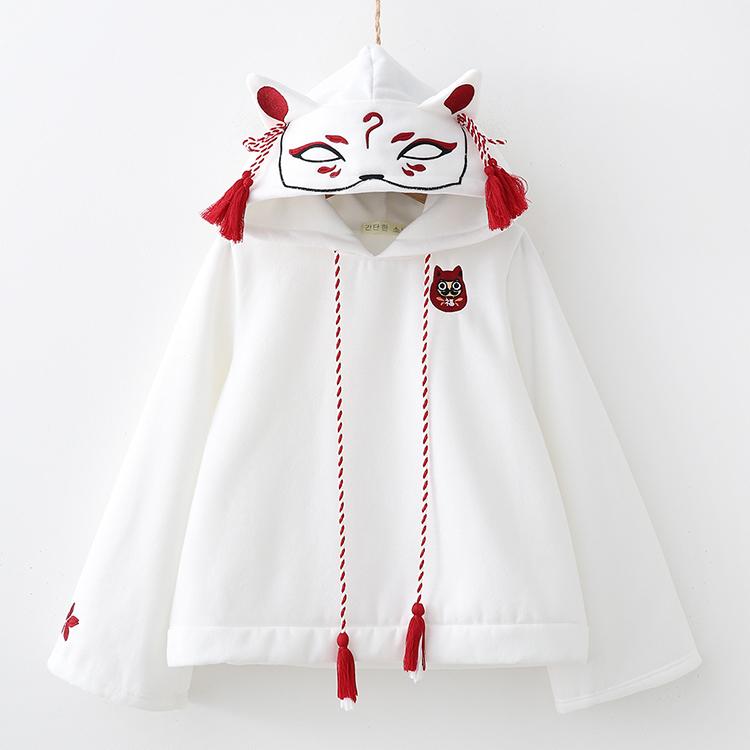 【在庫あり】狐面スウェットパーカー(M~XXLサイズ)