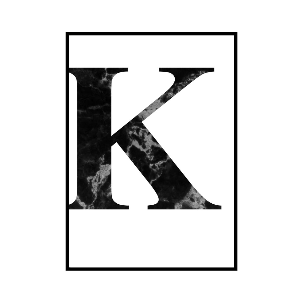 """K"" 黒大理石 - Black marble - ALPHAシリーズ [SD-000512] B4サイズ フレームセット"