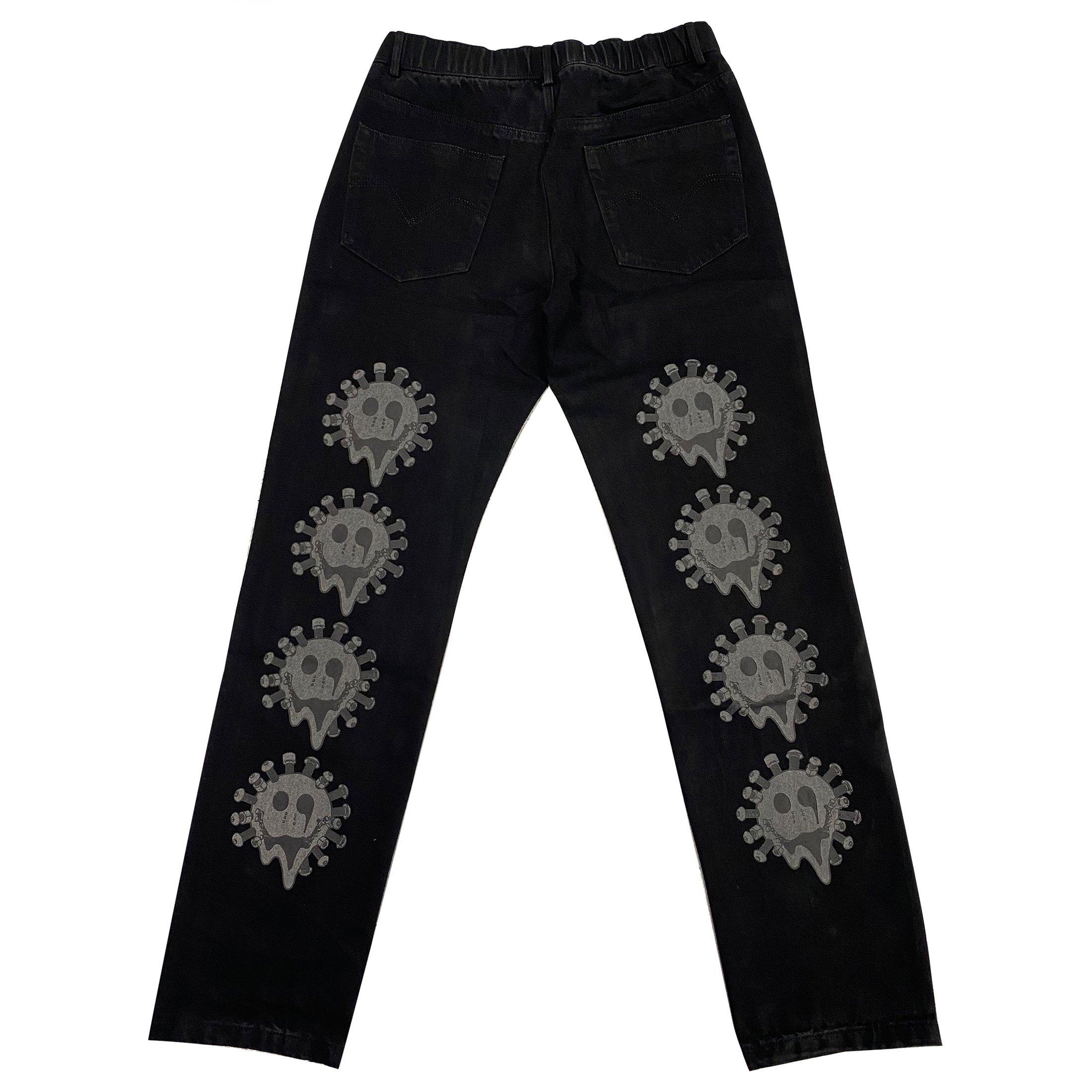 VIRUS WORLD 3M Mechanical Smile Pants BLACK
