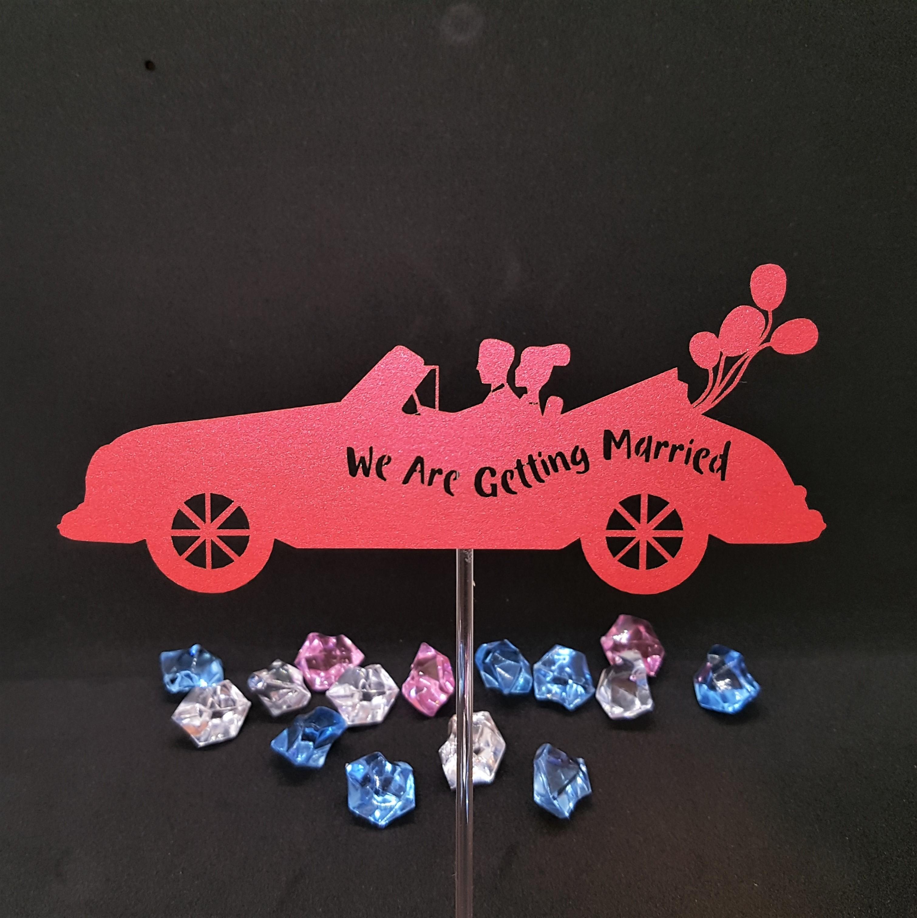 ケーキトッパー(ウェディングカー01)‐Wedding cake topper -