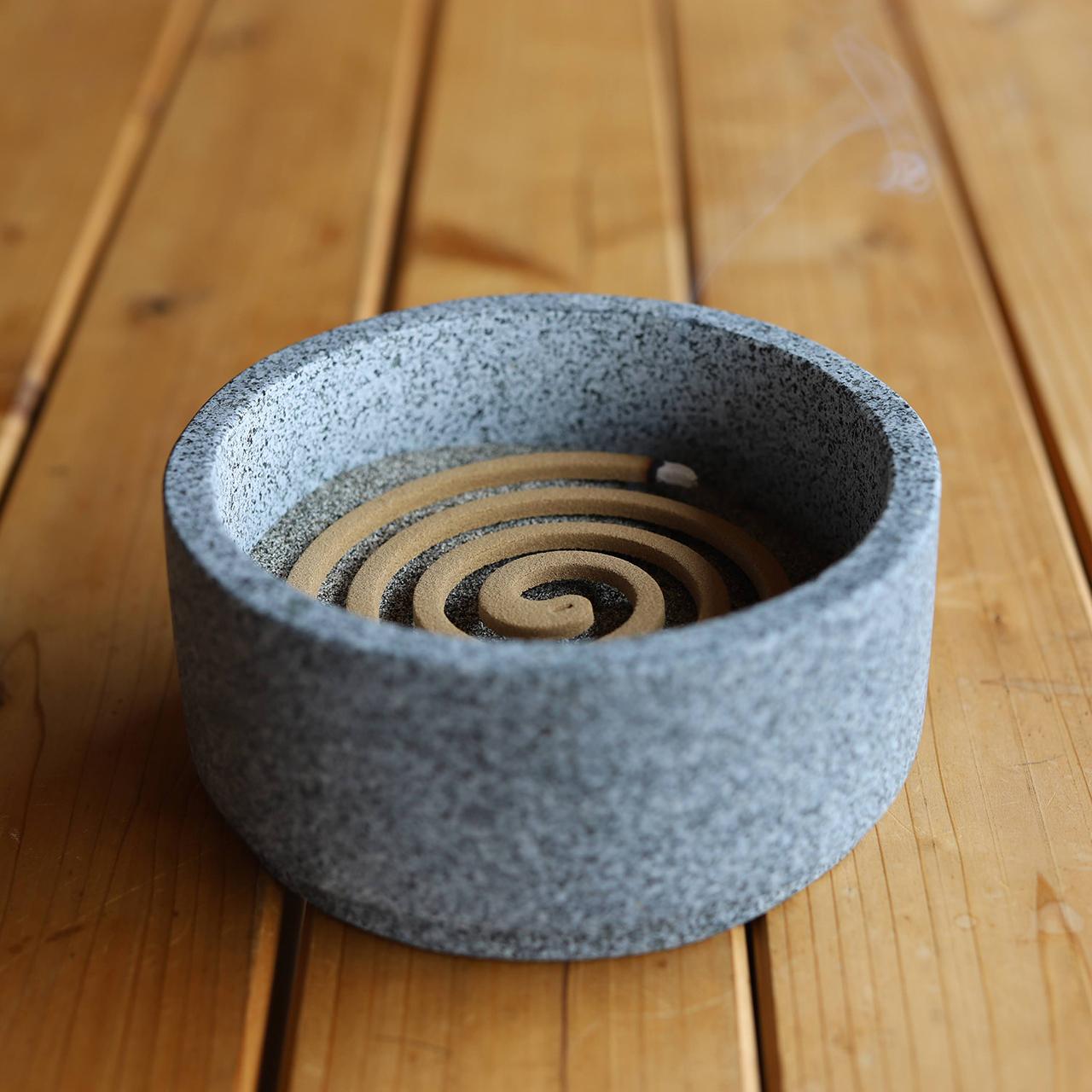 """MOLA.  石材香炉 """"KOKI"""" circle"""