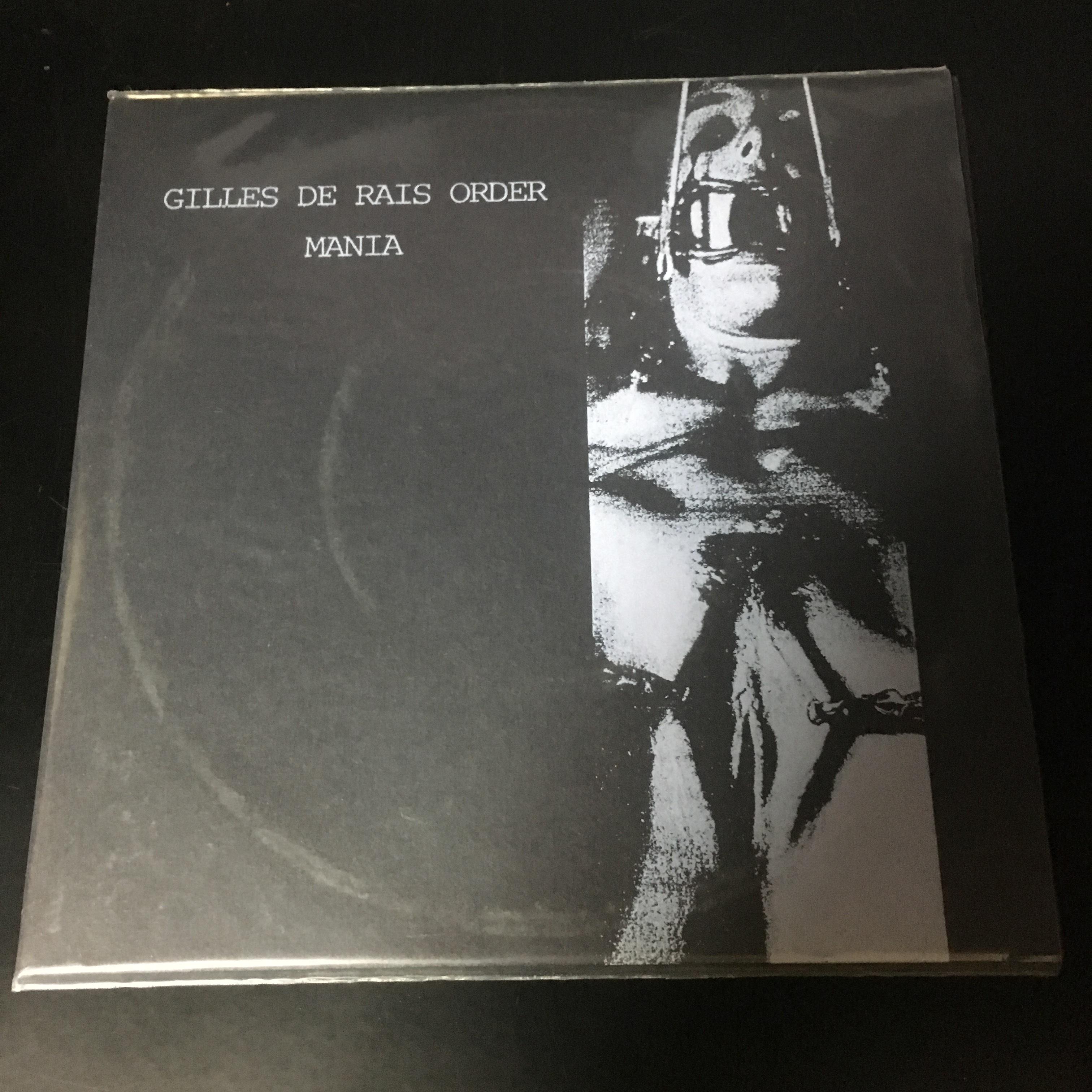 """Gilles De Rais Order / Mania  – Gilles De Rais Order / Mania - s/t(7""""EP)USED"""