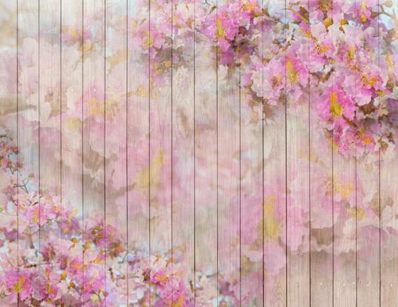 お花とwoodのニューボーンフォト背景布125cmX125cm