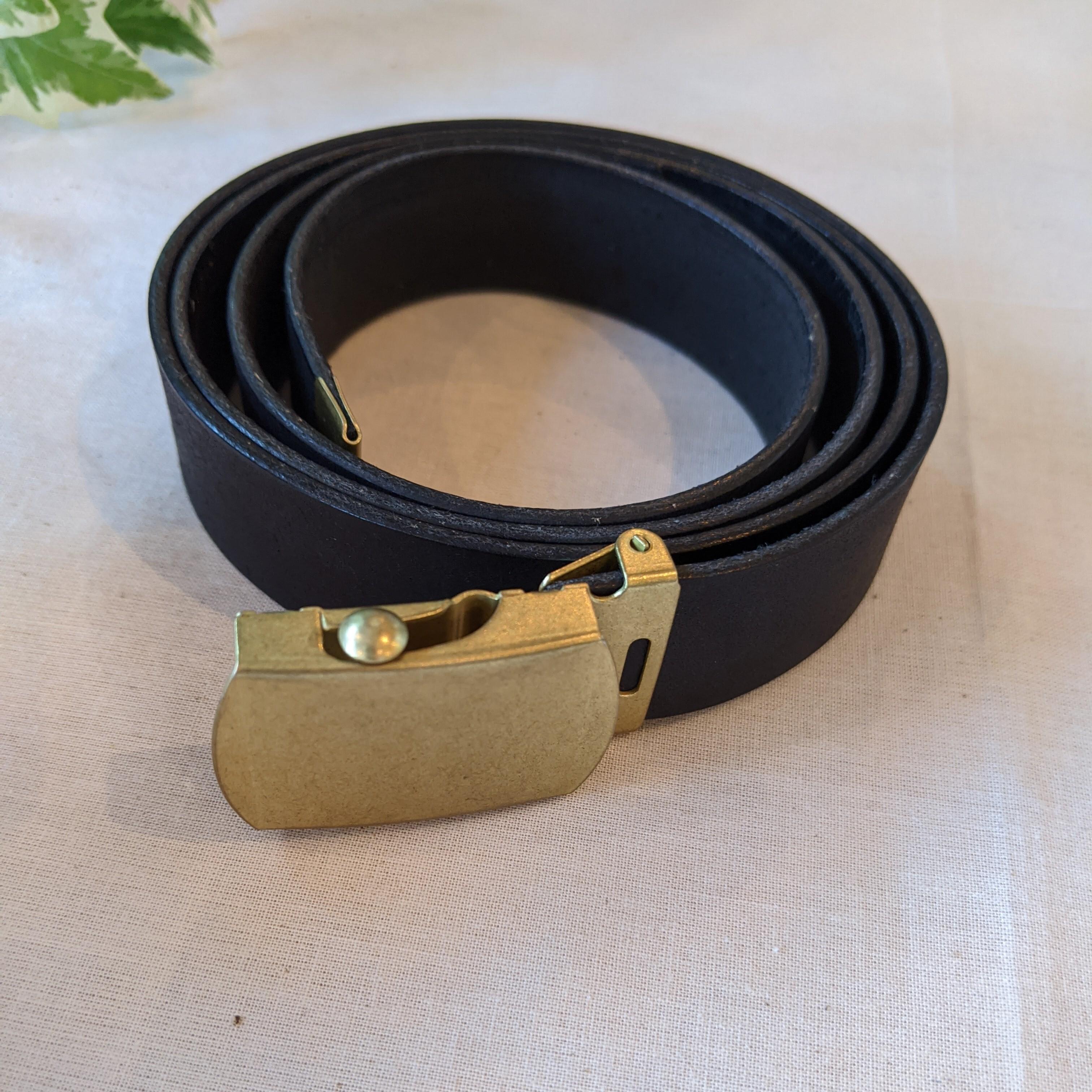 【 saranam 】サラナン Pueburo leather belt / プエブロ ガチャベルト / BLACK