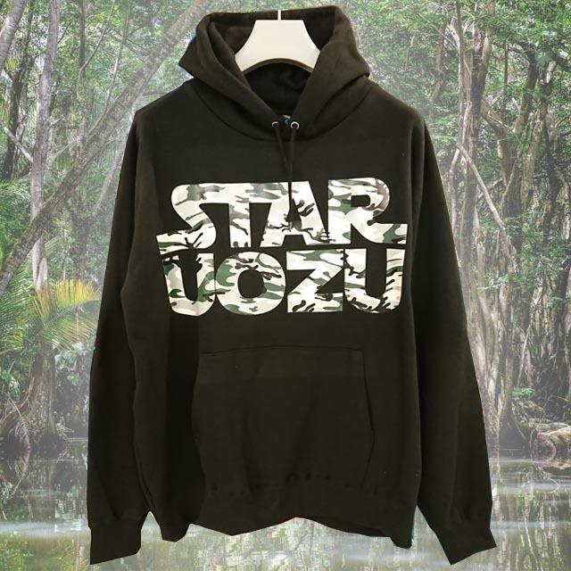 【ビッグサイズ】 STAR UOZU パーカー ブラック×カモフラ