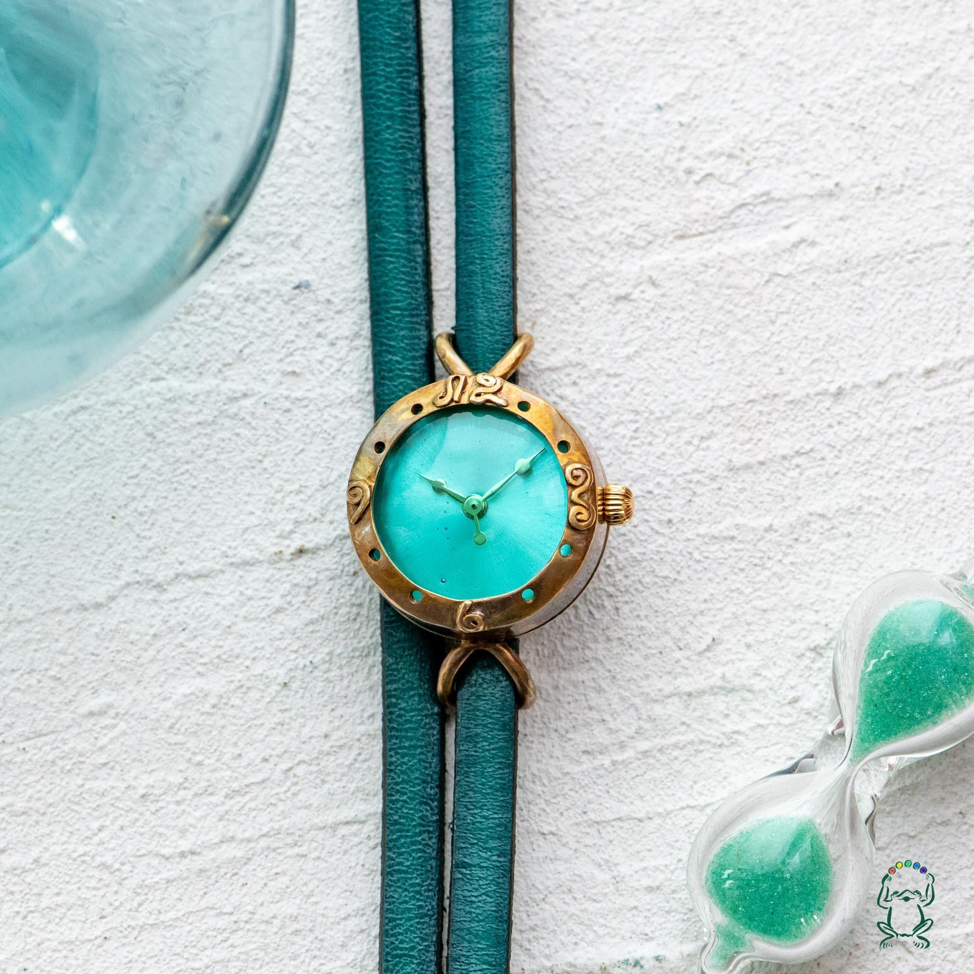 バルーン腕時計ミントグリーンSS