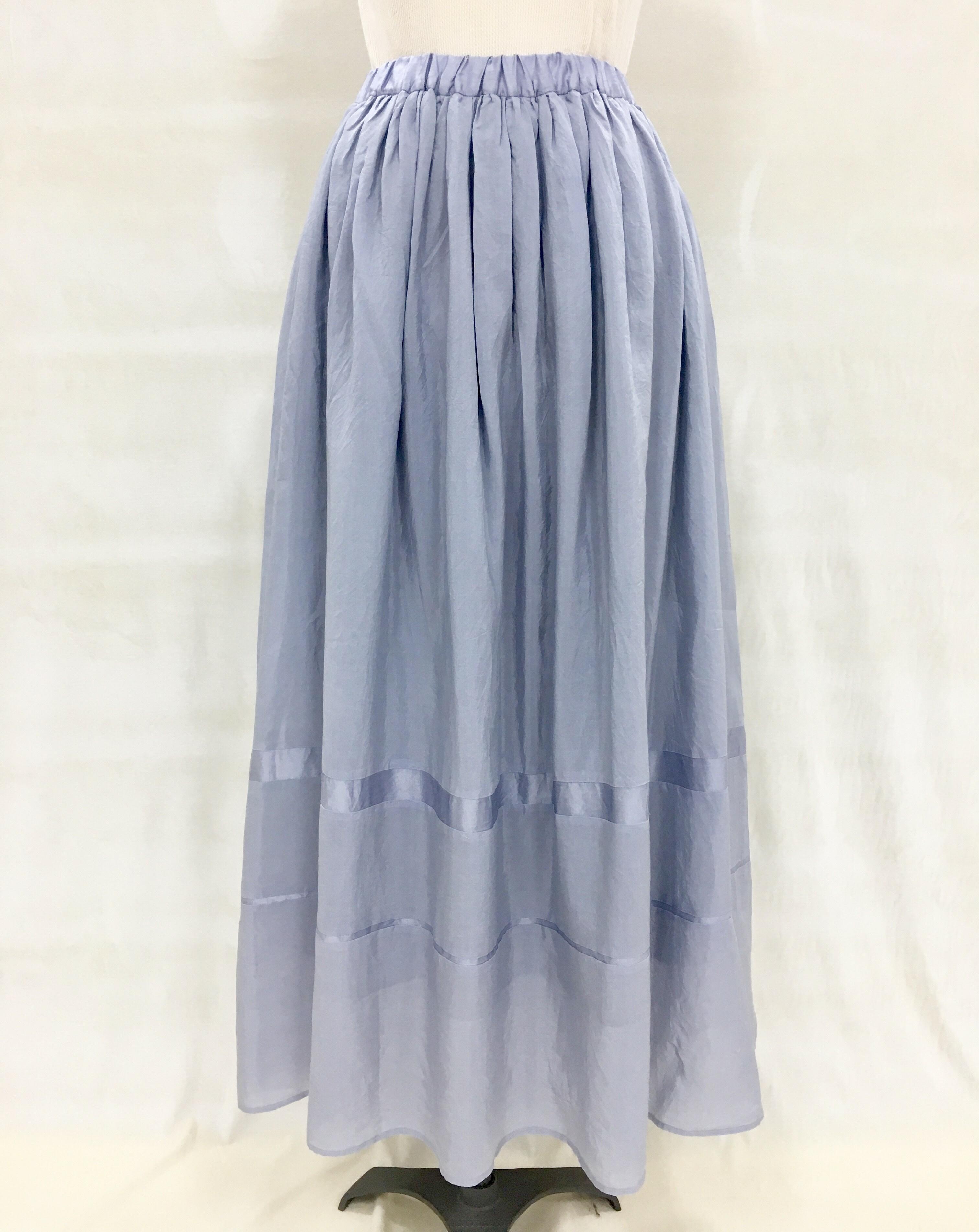 綿シルク ロングスカート