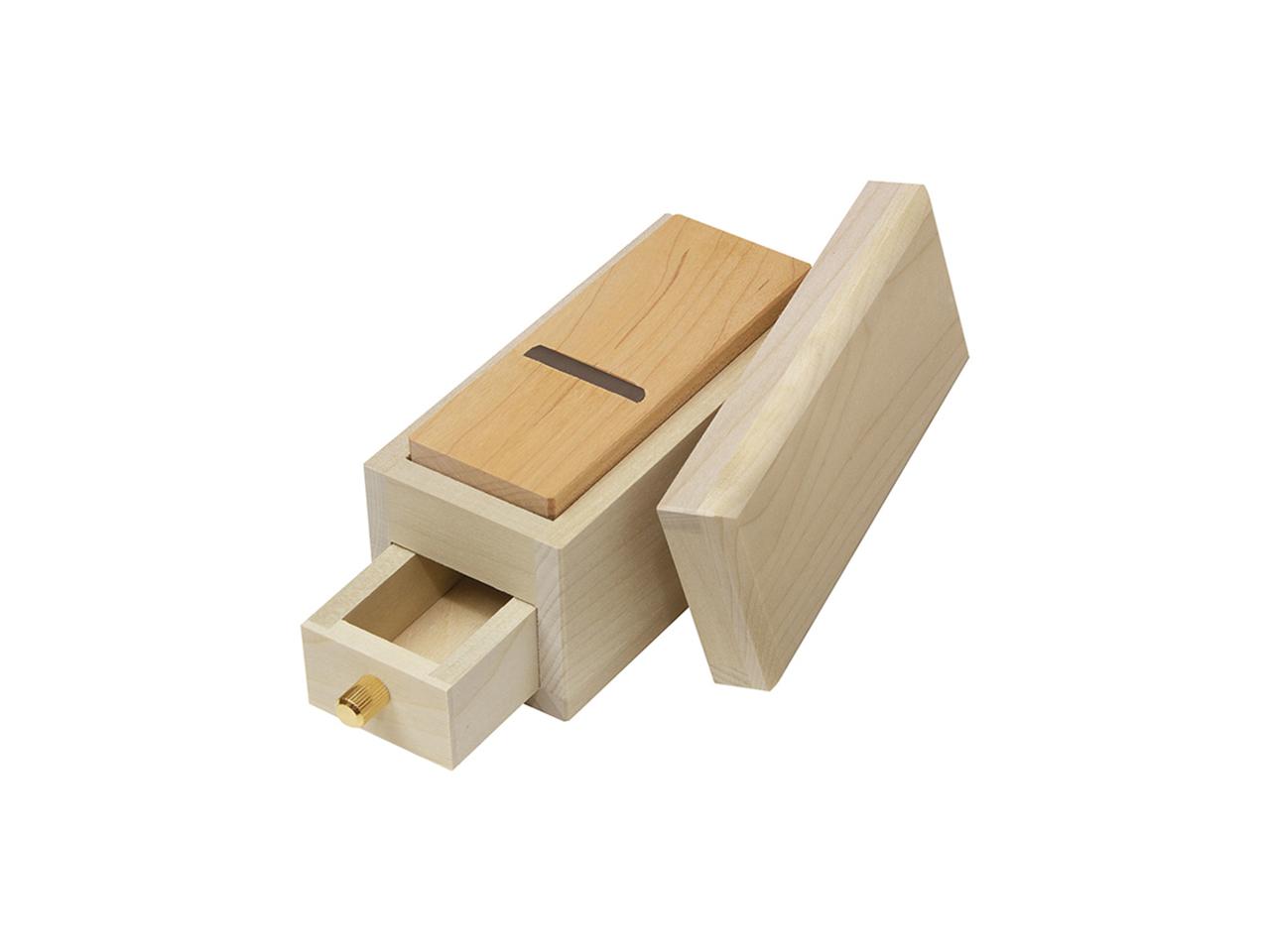 鰹節削り器 「極ミニ鰹箱」すべり止めシール付(shop限定セット)