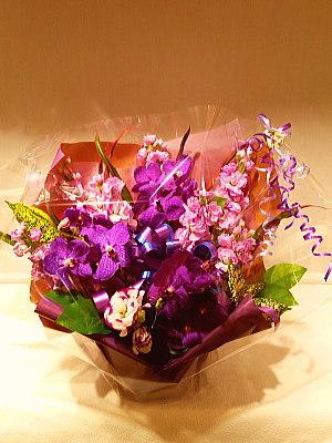 ar060 フラワーアレンジ 紫系