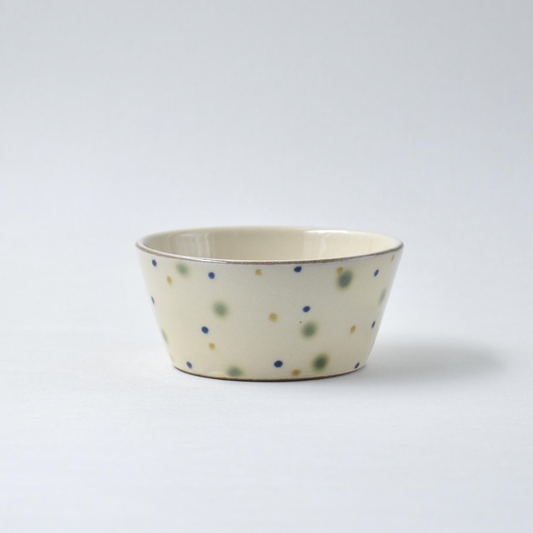 三色水玉の小鉢 大