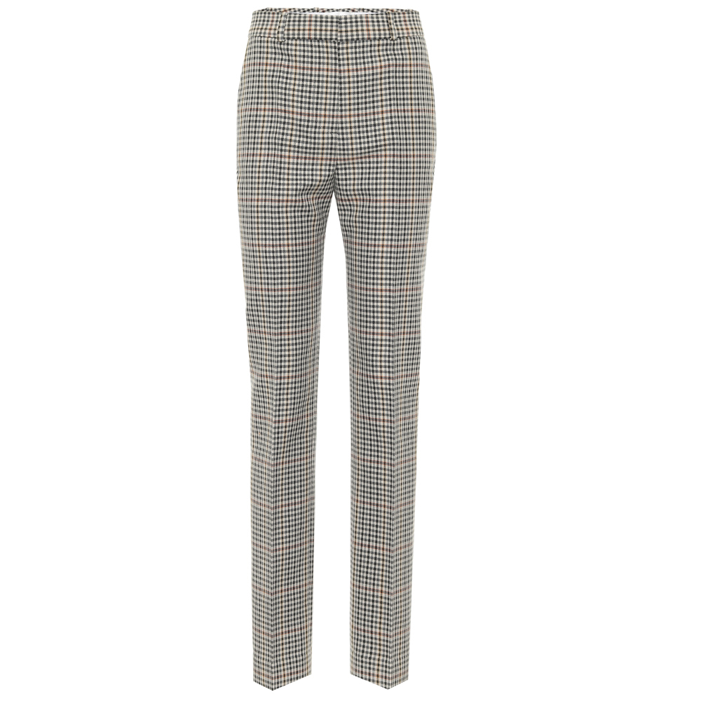 VVB  DRAINPIPE WOOL CHECK TROUSER