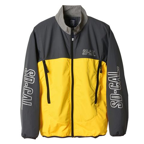スタンダードカリフォルニア SD Sports Track Jacket グレー/イエロー