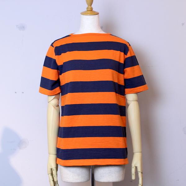 "Tieasy AUTHENTIC CLASSIC(ティージー オーセンティッククラシック)""HDCS Boatneck S/S Wide Border Basque Shirt "" Americancolor Edition"