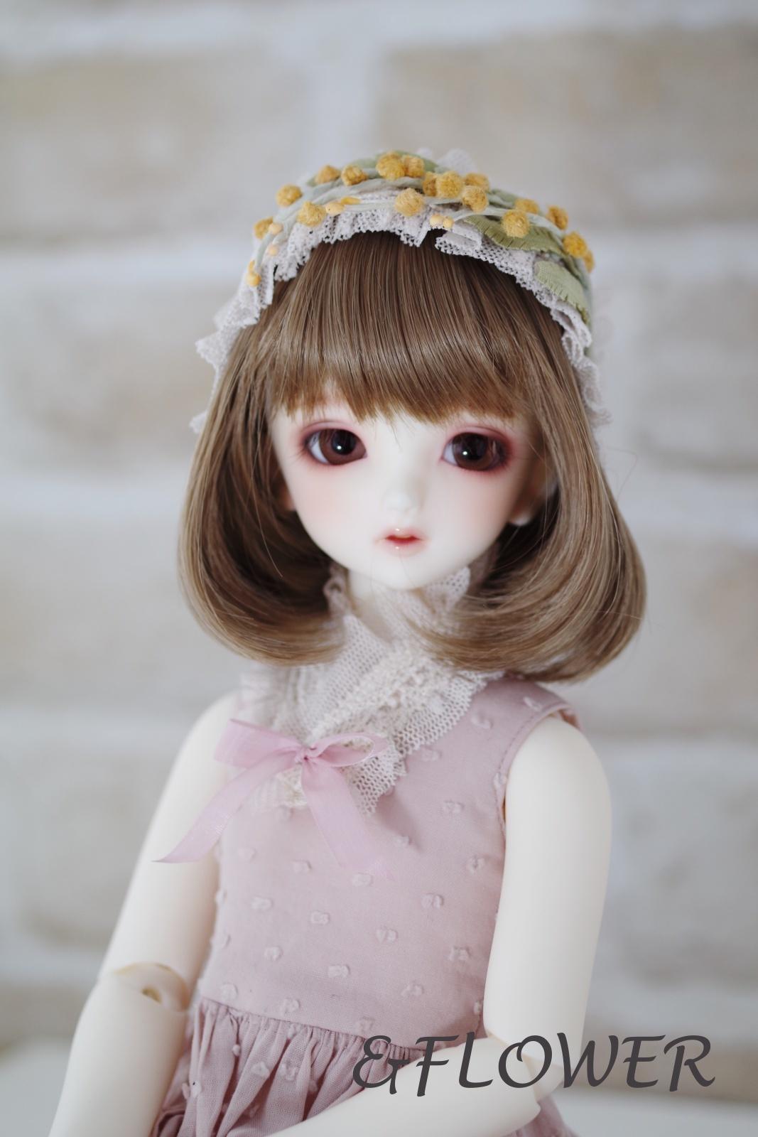 40cmドール用ワイヤー入りヘッドドレス(ミモザB)