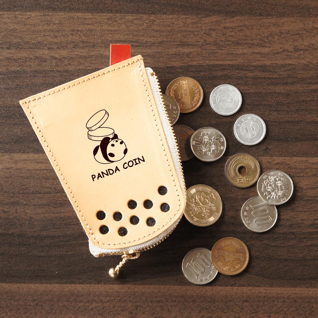 タピオカグッズ★レザーコインケース【小銭入れ】パンダ柄