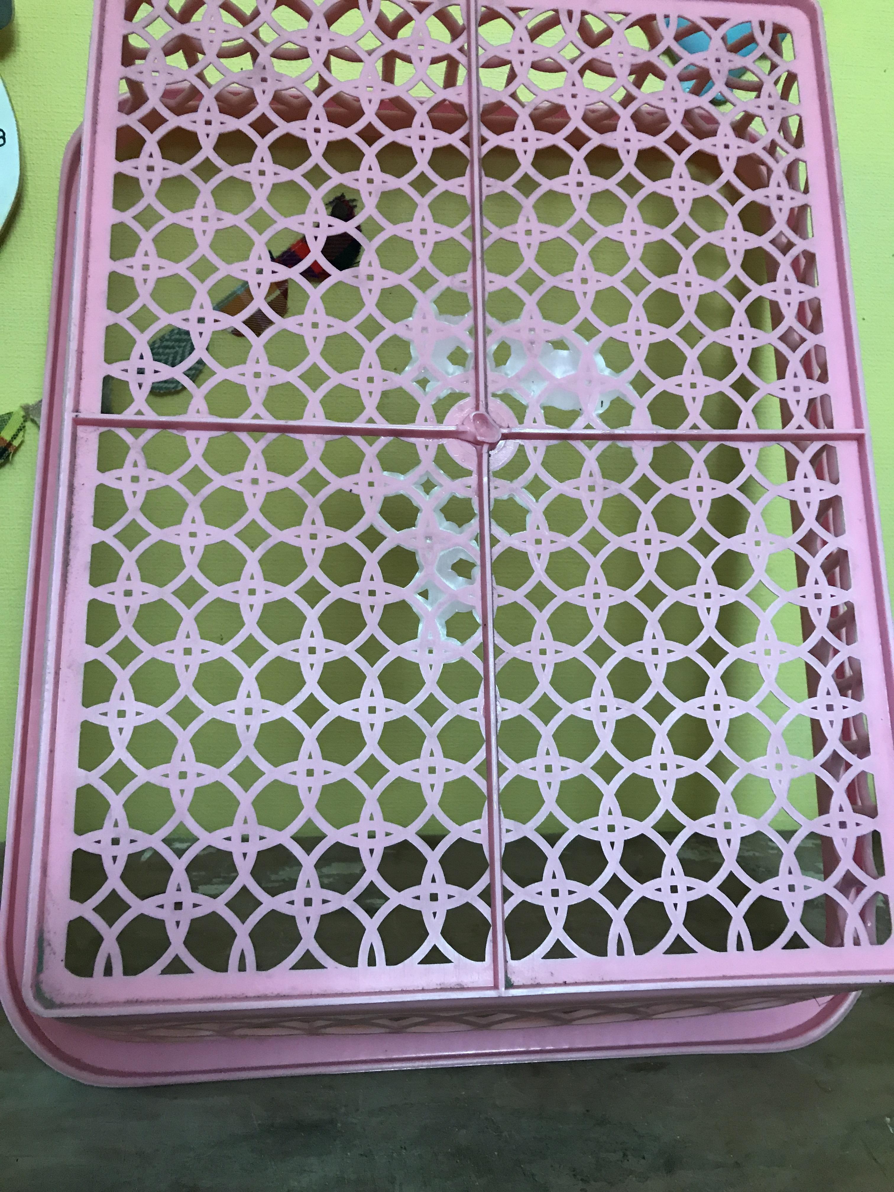 レトロ プラスチック製 かご