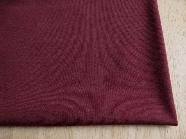J&B定番 綿30双糸スーパー度詰天竺 ボルドー #13 NTM-1572