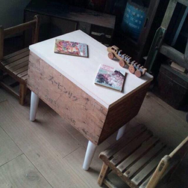 グリンピース 木箱 ミニテーブル