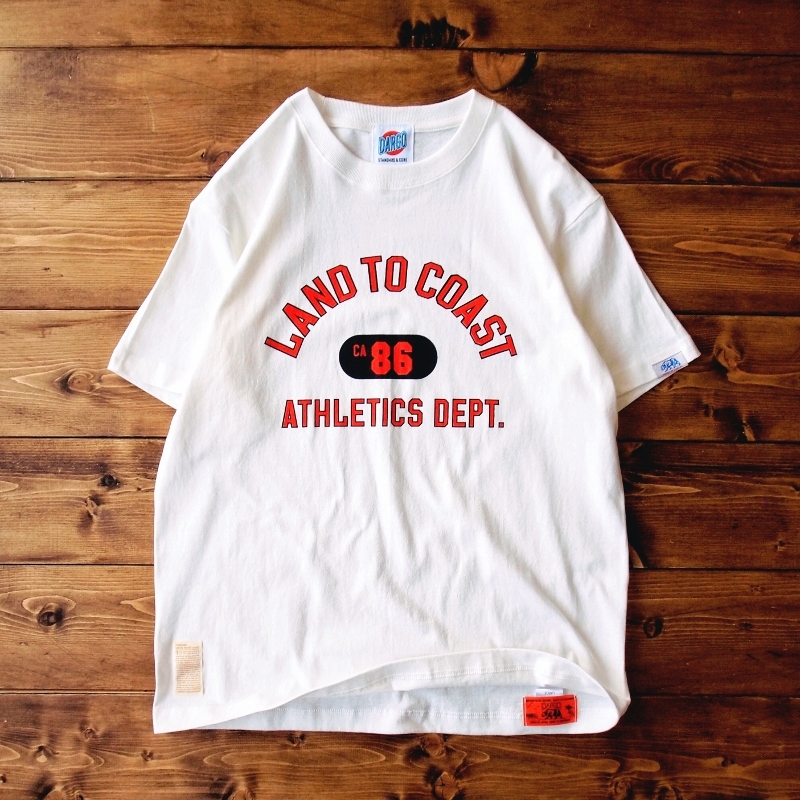 "【DARGO】""LAND TO COAST"" T-shirt (NATURAL)"