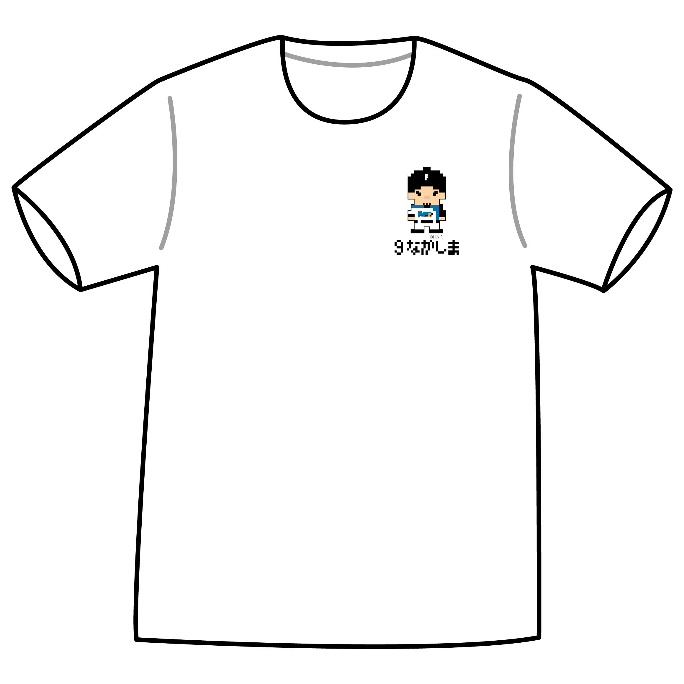 ドットファイターズ 「なかしま」 Tシャツ ホワイト