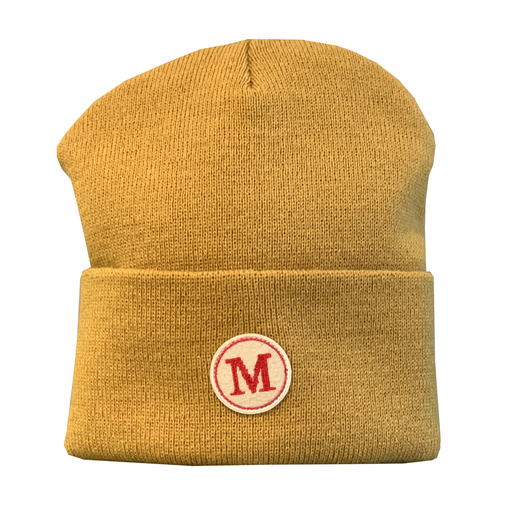 MONSE Embroidered 'M' Beanie YELLOW