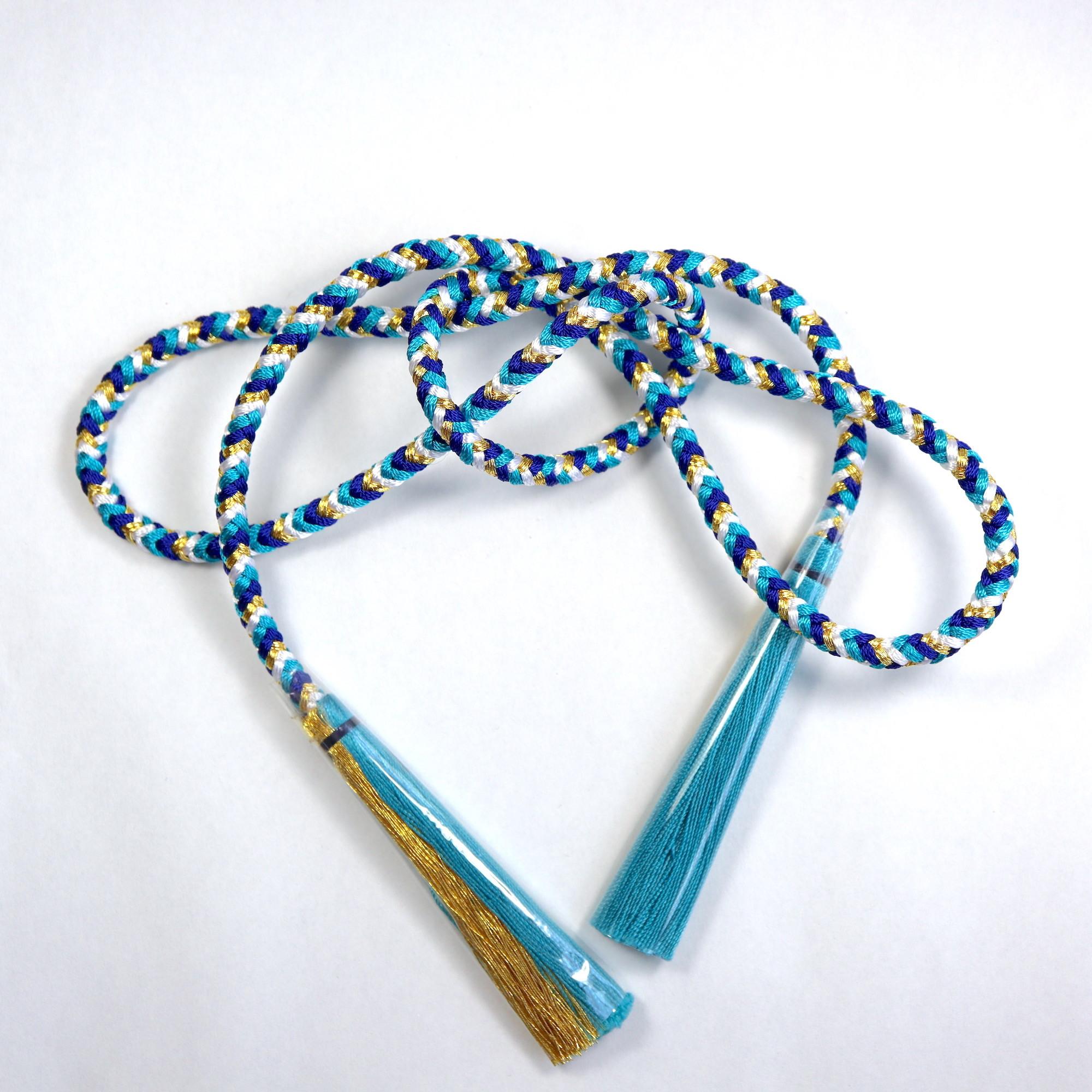 【組紐】ブルー 房付き飾り紐