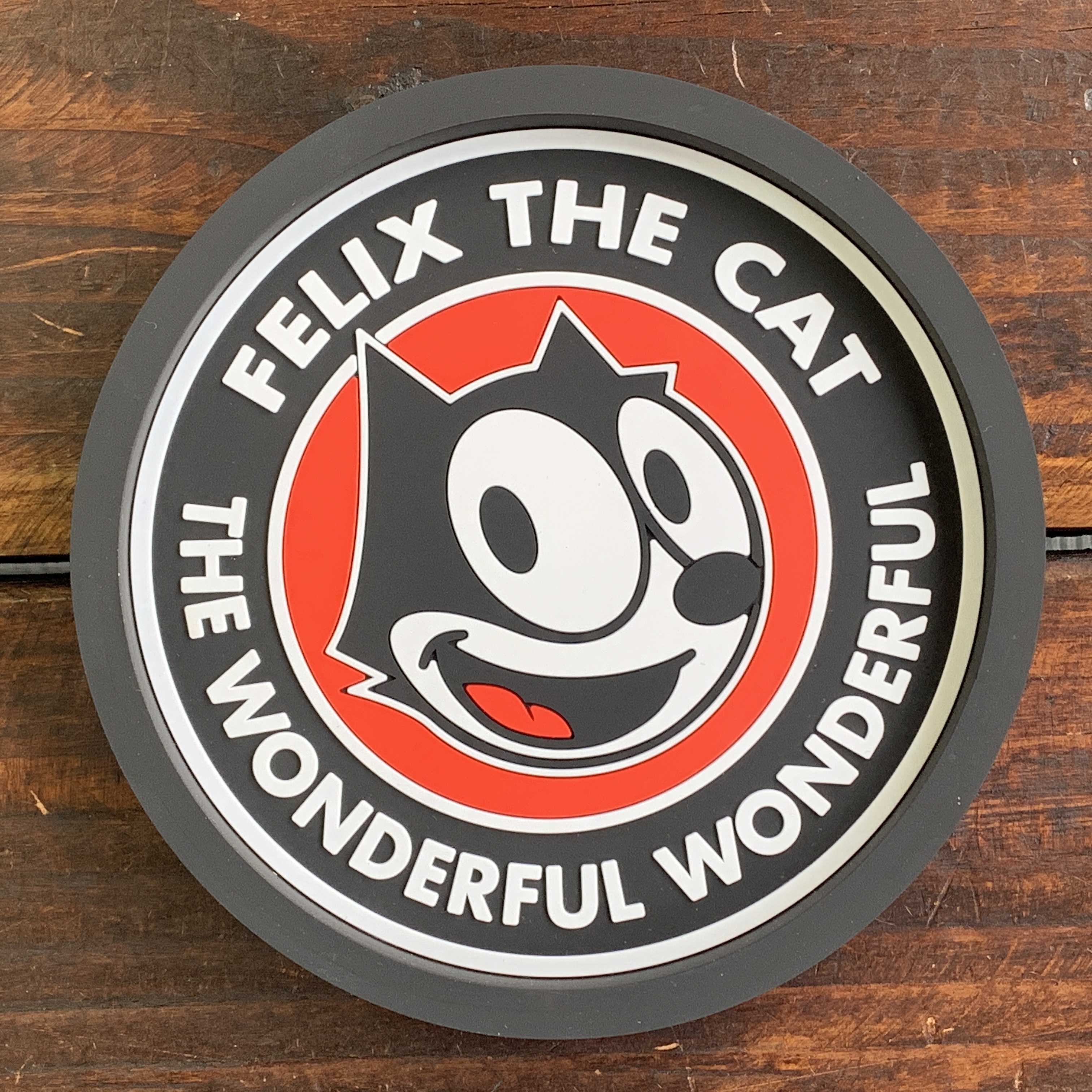 【予約受付中・2019/6月末ごろ入荷】[FELIX]フィリックス・ザ・キャット・ラバートレイ・アクセサリー入れ・小物入れ・クリップホルダー - ラウンド