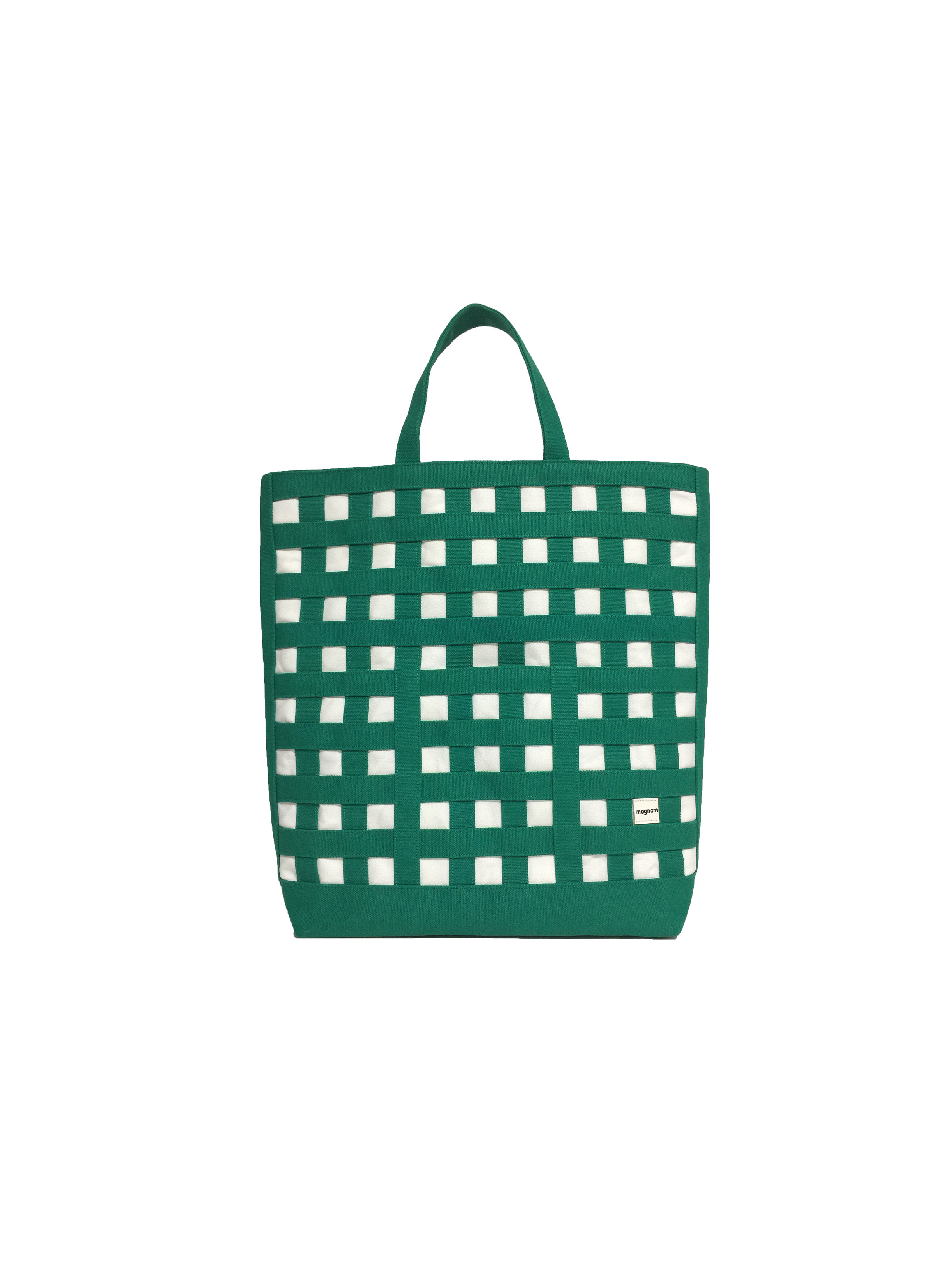 gingham tote ギンガムトート 20  グリーン