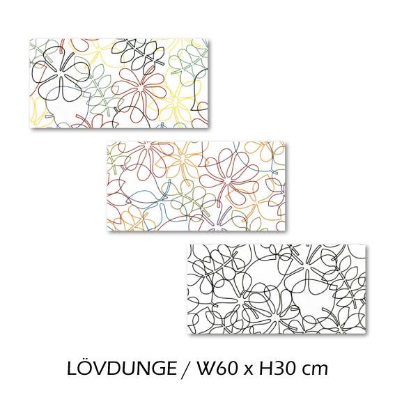 北欧生地 ファブリックパネル 横60 cm x 縦30 cm Kinnamark LOVDUNGE 受注販売商品 (100924)
