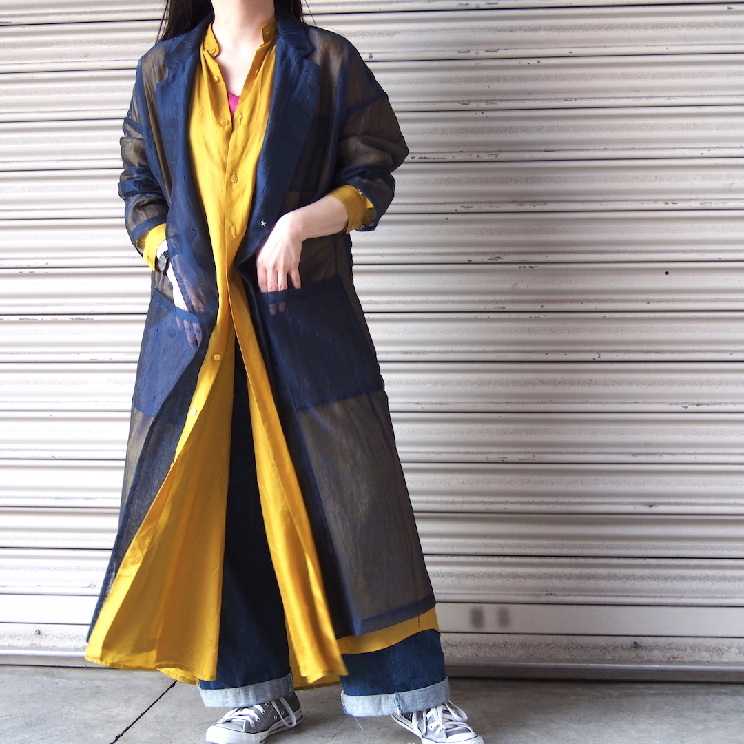 【RehersalL】mesh coat(navy) /【リハーズオール】メッシュコート(navy)